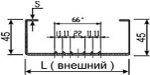 Термопрофили стоечные равнополочные