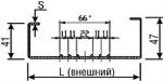 Термопрофили стоечные разнополочные оцинкованные