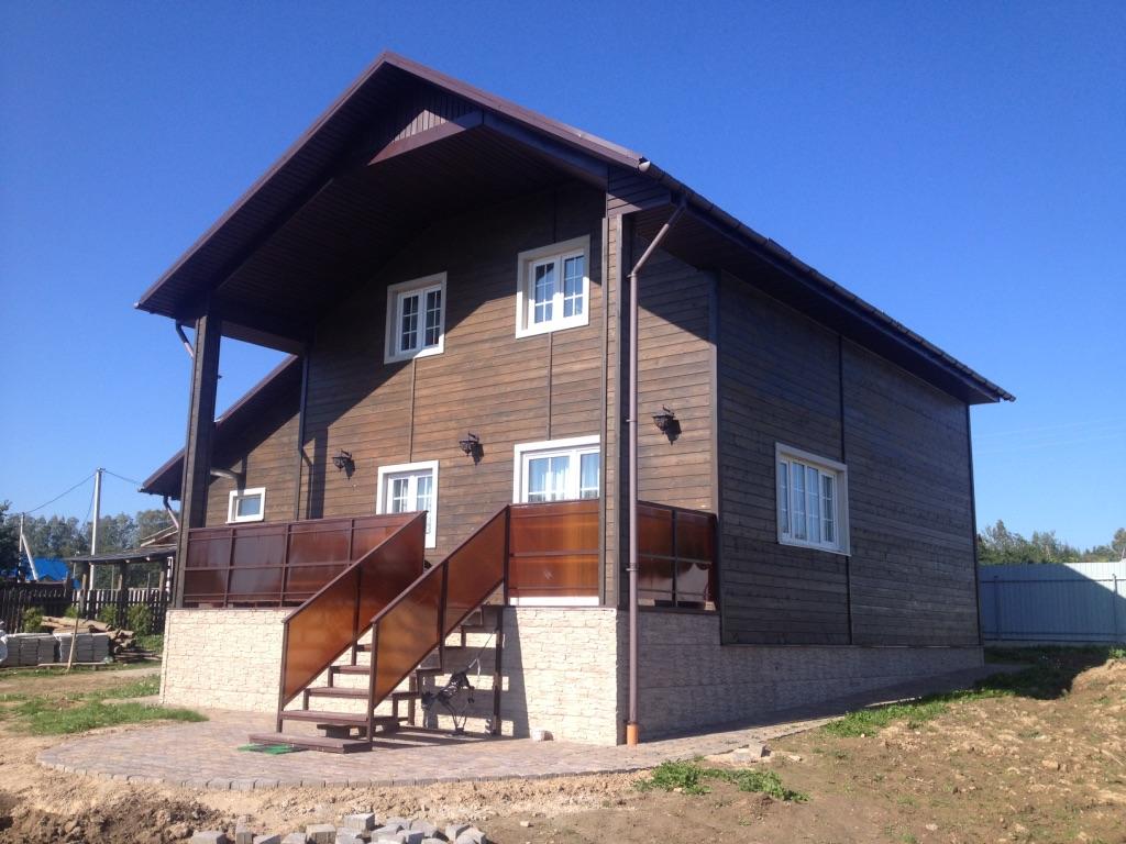 дом из каркаса по индивидуальному проекту