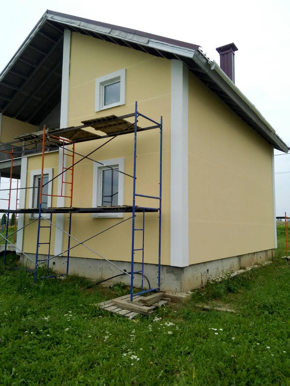 покраска каркасного дома