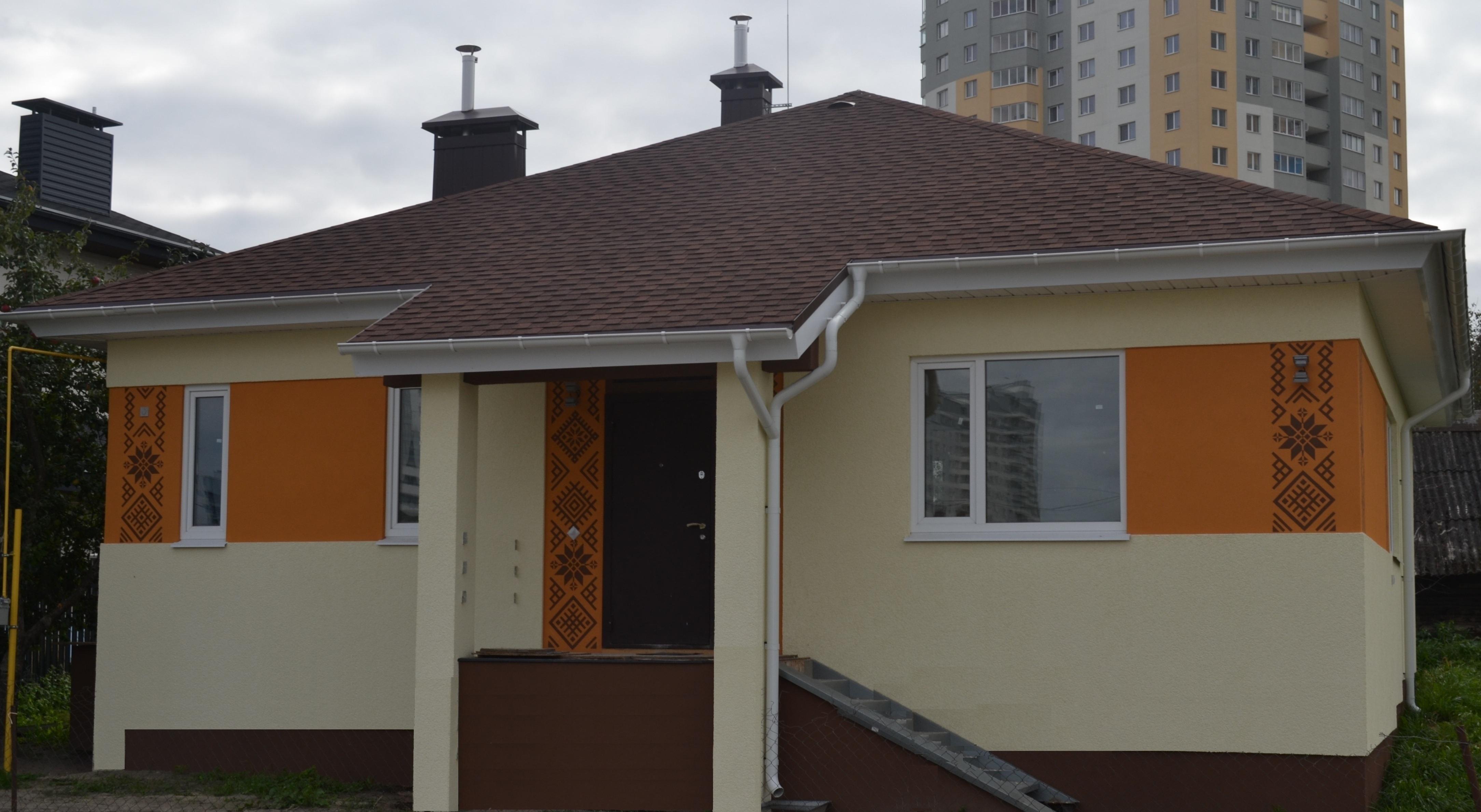 Фасад дома по проекту Минский