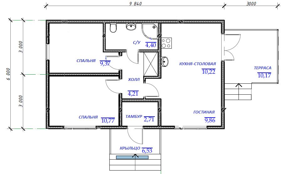 План этажа проекта Эконом