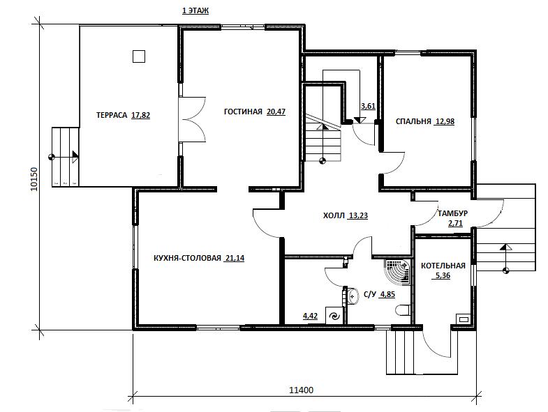 План первого этажа проекта Кардымово
