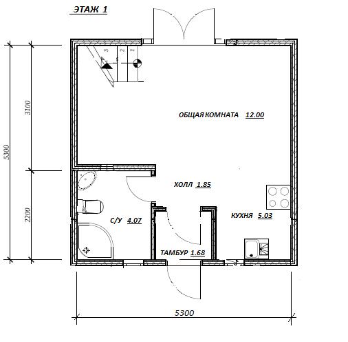 План первого этажа проекта Садовый