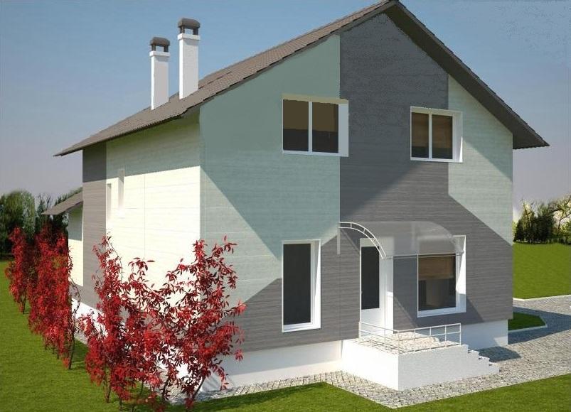 фасад дома из лстк Бабиничи