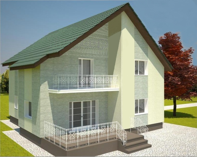 фасад дома из лстк Кардымово проект
