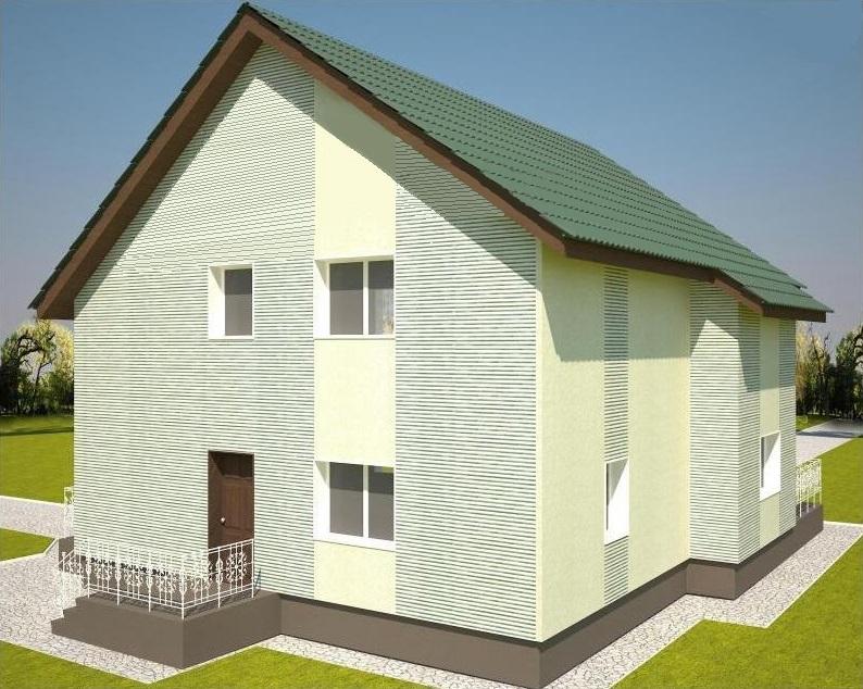 фасад дома из лстк проект Кардымово