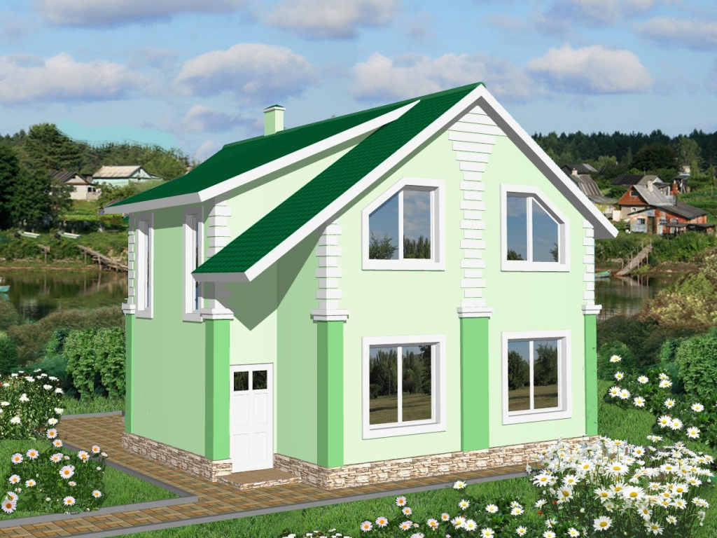 фасад дома по проекту Гиргис