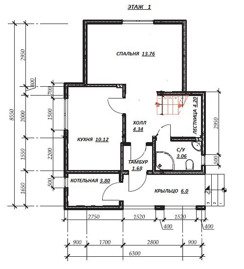 первый этаж план проекта Горошки