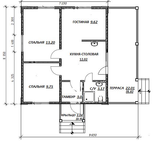 план дома по проекту Михоновичи Беларусь