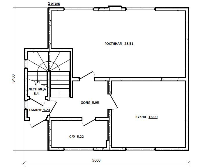 план первого этажа проекта Гиргис