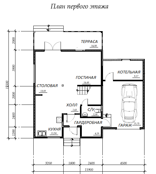 план первого этажа проекта Каракас