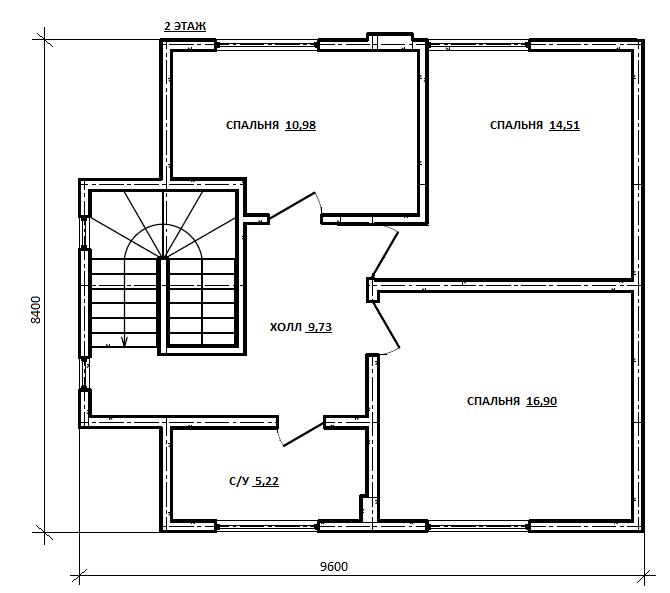 план второго этажа проекта Гиргис
