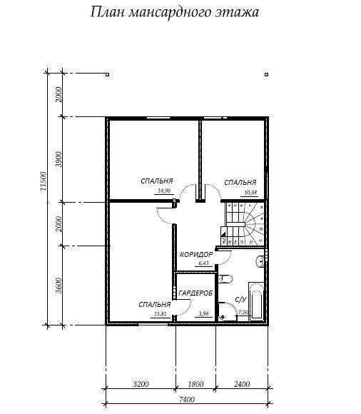 план второго этажа проекта Каракас
