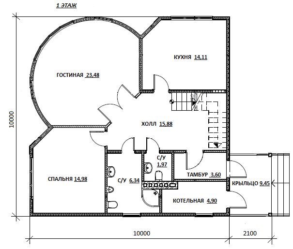 план первого этажа проекта Олдан