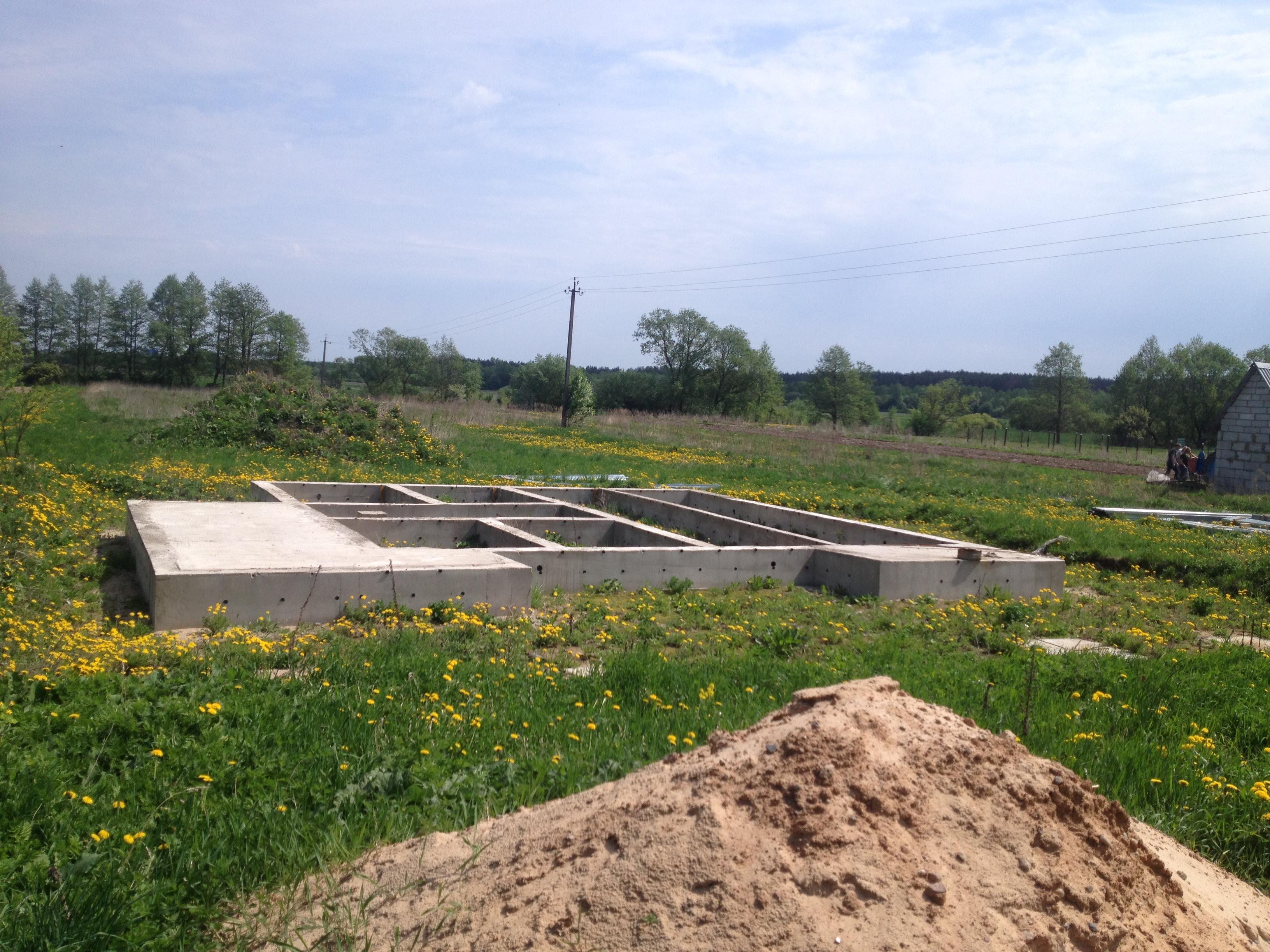 фундамент перед строительством