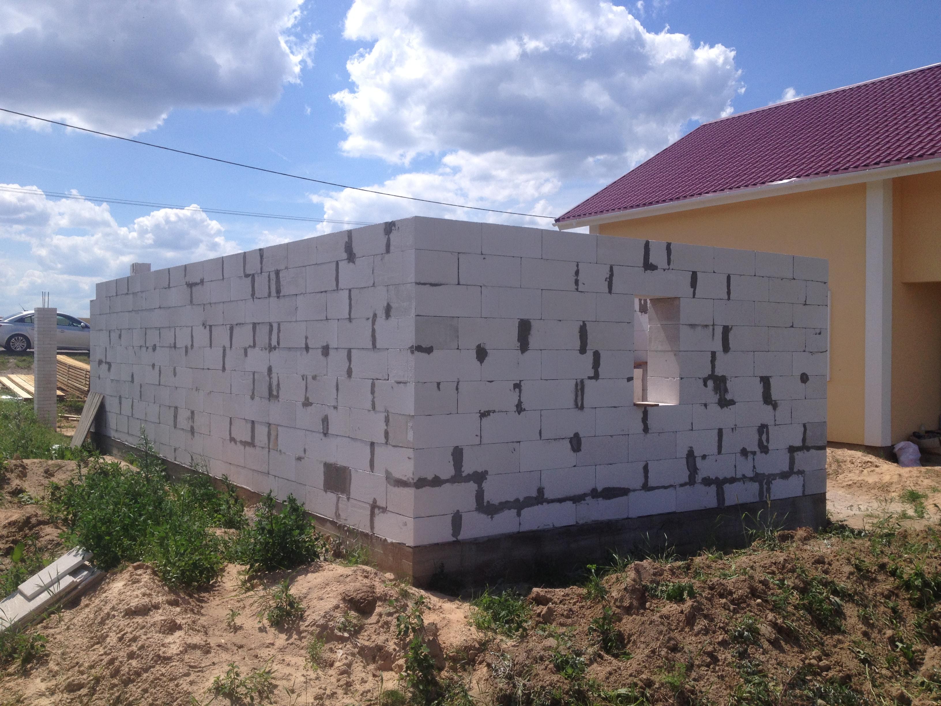 кладка блоков для гаража