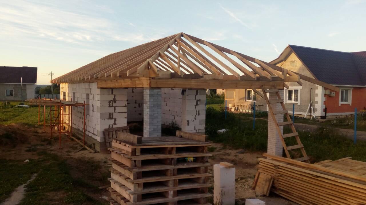 процесс строительства гаража