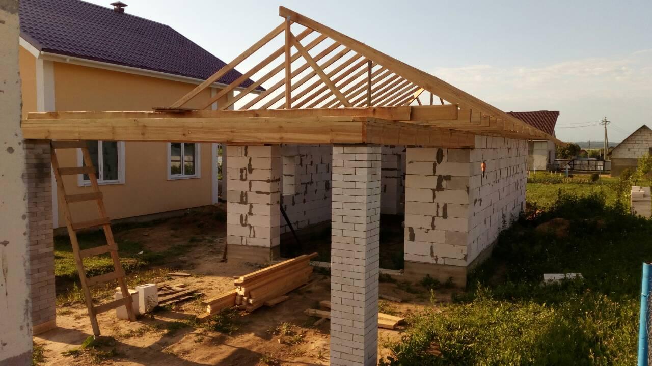 строим гараж из блоков