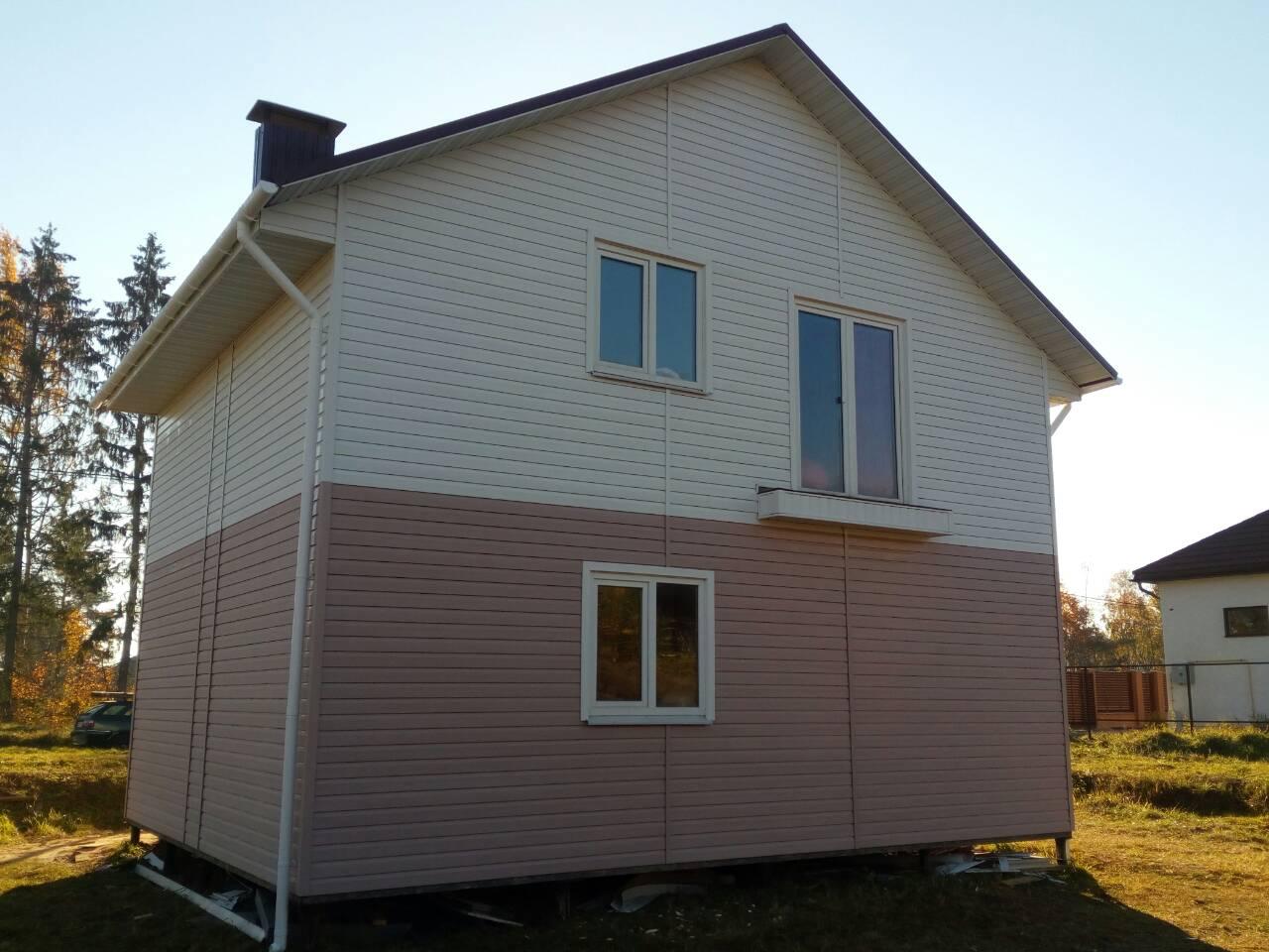 дом из лстк с отделкой сокол