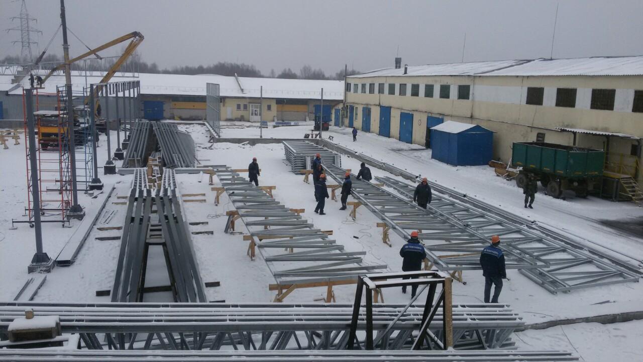 постройка склада из лстк