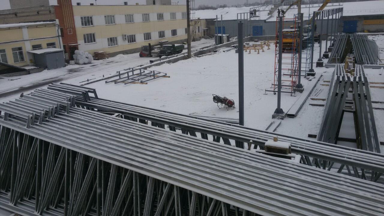 строительство склада из лстк