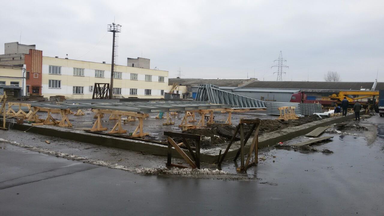 строительство склада в Пинске