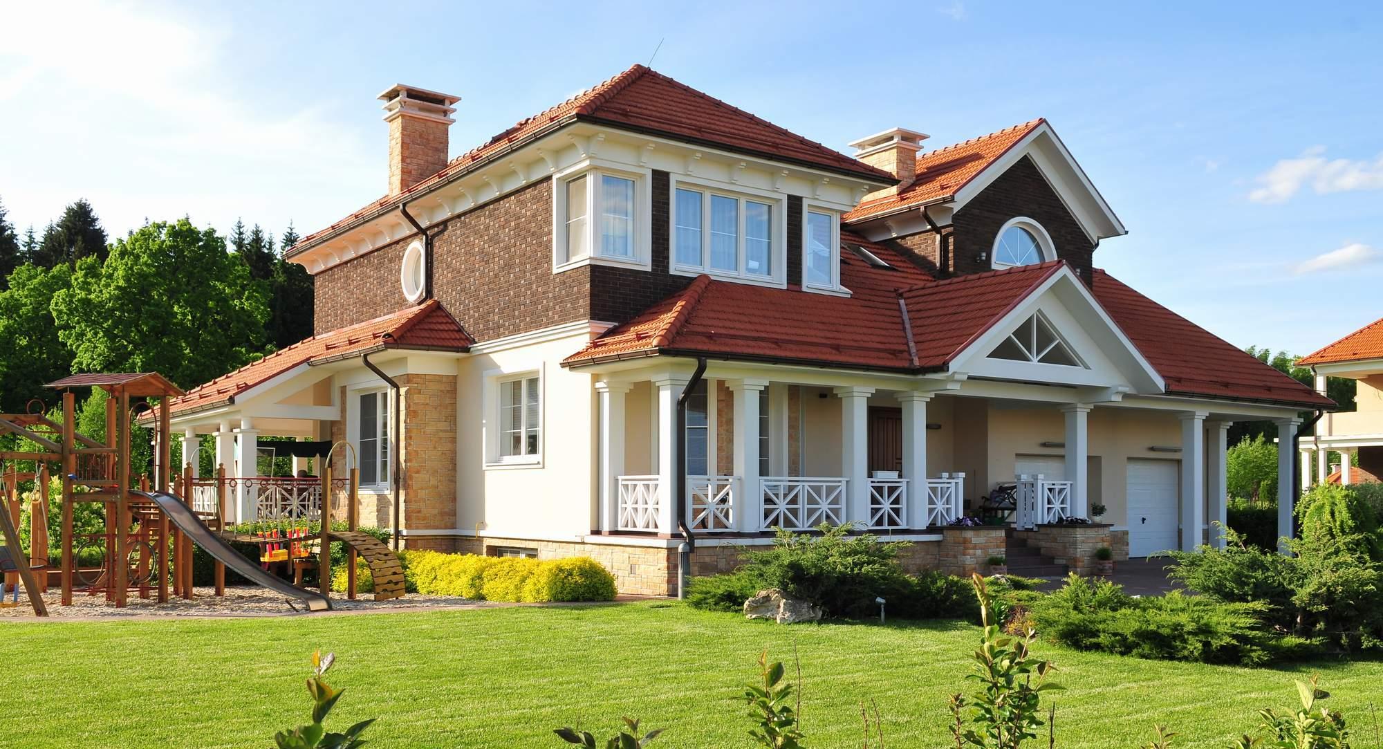 Красивый солнечный дом
